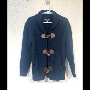 ANDY& EVAN toggle kids sweater navy size 5Y